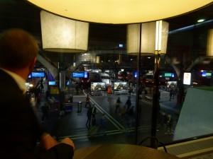 Blick aus dem Fenster in der Time Lounge Zürich HB