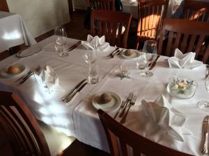 Tischdekoration Gasthaus Sonne Luthern